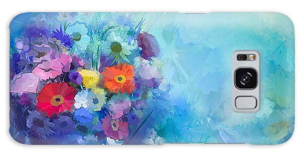 Branch Galaxy Case - Oil Painting Flowers In Vase. Hand by Pluie r