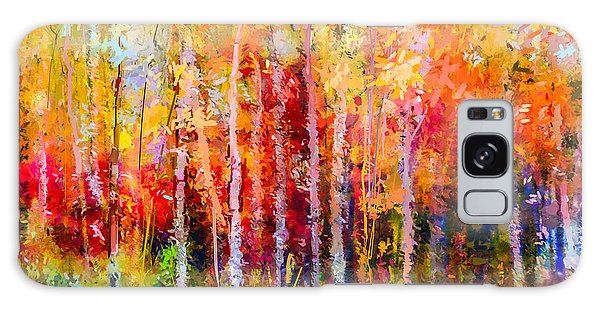 Semis Galaxy Case - Oil Painting Landscape, Colorful Autumn by Pluie r