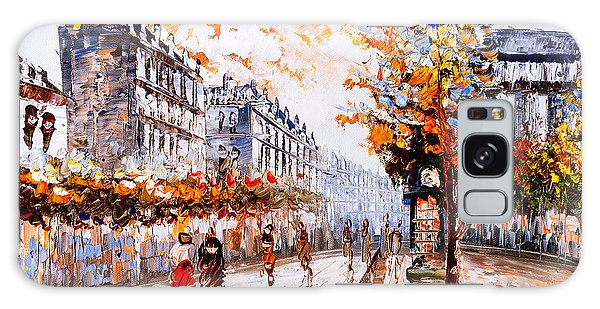 Cloudscape Galaxy Case - Oil Painting - Street View Of Paris by Cyc