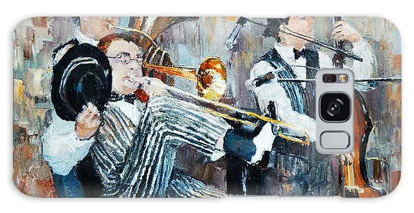 Metal Galaxy Case - Oil Painting, The Orchestra Plays by Maria Bo