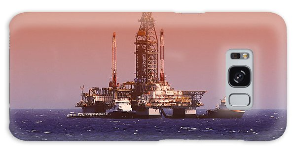 Shipping Galaxy Case - Oil Rig In Gulf Of Mexico, Dramatic by Jbutcher