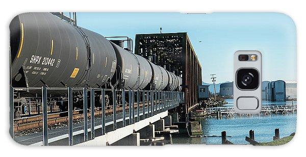 Oil Train Over Swinomish Channel Galaxy Case