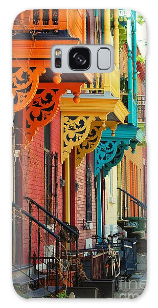 Quebec City Galaxy Case - Old Architecture In Montreal by Brian Burton Arsenault