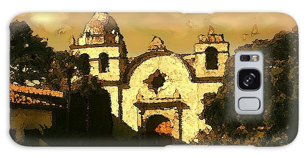 Old Carmel Mission - Watercolor Painting Galaxy Case
