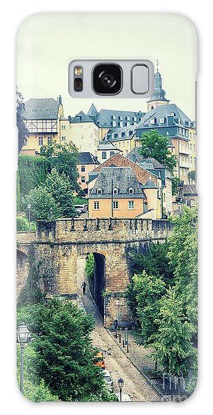 old city Luxembourg from above Galaxy Case