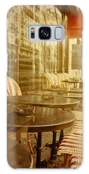 Street Cafe Galaxy Case - Old-fashioned Coffee Terrace With by Ilolab