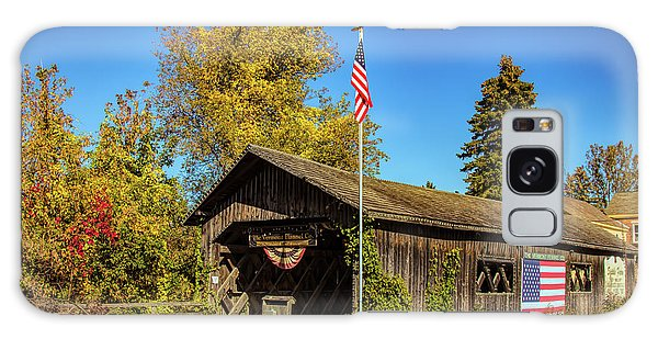 Old Hollow Covered Bridge Galaxy Case