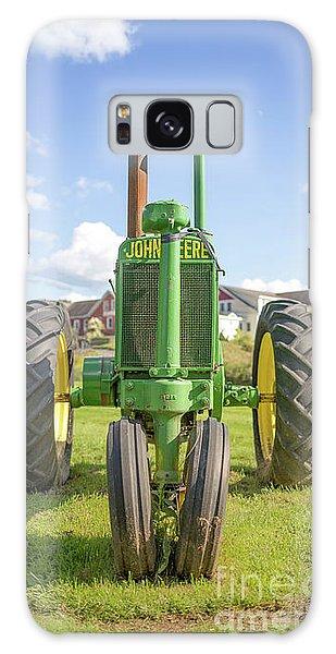 John Deere Galaxy Case - Old John Deere Vintage Tractor Stowe Vermont by Edward Fielding