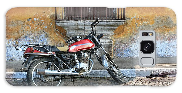 No People Galaxy Case - Old Motorcyle In Colonial Antigua by Charles Harker