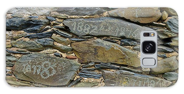 Old Schist Wall With Several Dates From 19th Century. Portugal Galaxy Case