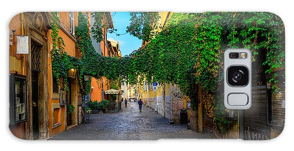 Street Cafe Galaxy Case - Old Street At In Trastevere, Rome by Catarina Belova