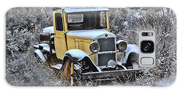 Old Yellow Truck Galaxy Case
