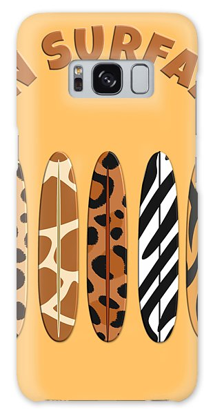 On Surfari Animal Print Surfboards  Galaxy Case