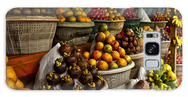 Tasty Galaxy Case - Open Air Fruit Market In The Village by Unique Vision