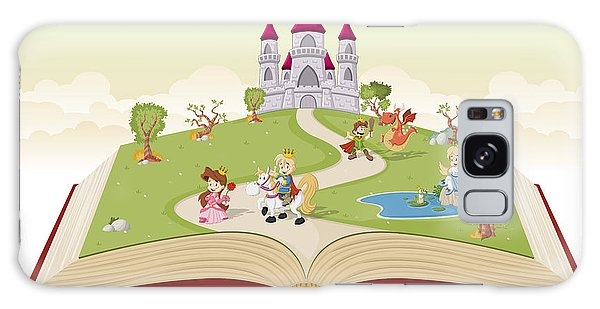 Mythology Galaxy Case - Open Book With Cartoon Princesses And by Denis Cristo