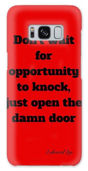 Open The Door      Black On Red Galaxy Case