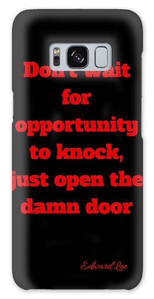 Open The Door     Red On Black Galaxy Case