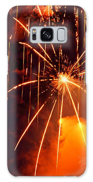 Orange Fireworks Galaxy Case