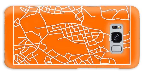 Sweden Galaxy Case - Orange Map Of Stockholm by Naxart Studio