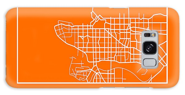 Vancouver City Galaxy Case - Orange Map Of Vancouver by Naxart Studio