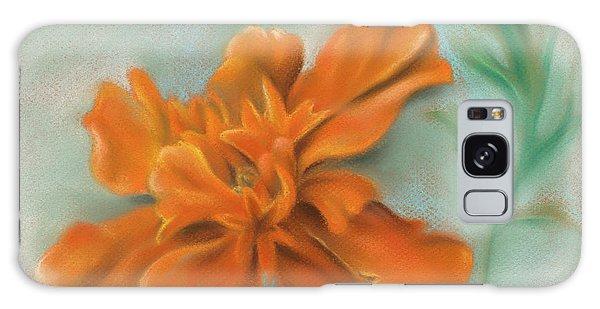 Orange Marigold And Leaf Galaxy Case