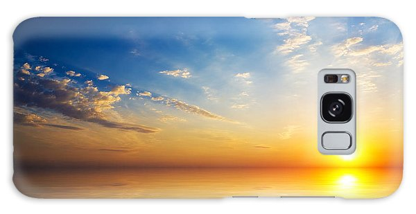 Dawn Galaxy Case - Orange Mystic Sunset On The  Sea by Nemeziya