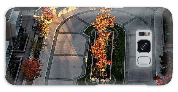 Orange Trees In Autumn Galaxy Case