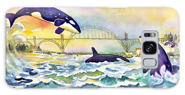 Orcas In Yaquina Bay Galaxy Case
