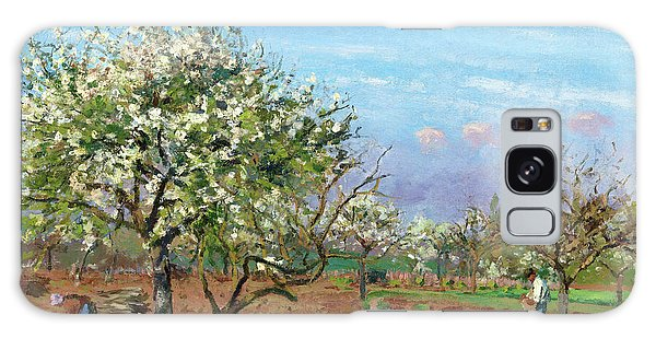 Country Living Galaxy Case - Orchard In Bloom, Louveciennes - Digital Remastered Edition by Camille Pissarro