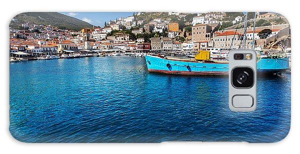 Docked Boats Galaxy Case - Original Hydra Island In Greece by Galyna Andrushko
