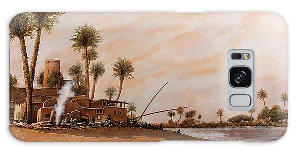 Egypt Galaxy Case - Ormeggio Sul Nilo by Guido Borelli