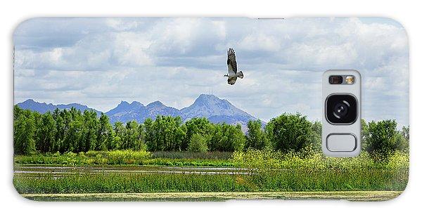 Osprey Over The Wetlands Galaxy Case