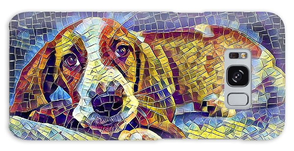 Otis The Potus Basset Hound Dog Art  Galaxy Case