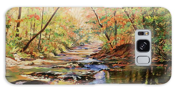 River Otter Galaxy Case - Otter Creek - Near Peaks Of Otter Va by Bonnie Mason