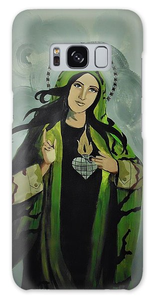 Galaxy Case featuring the painting Our Lady Of Veteran Suicide by MB Dallocchio