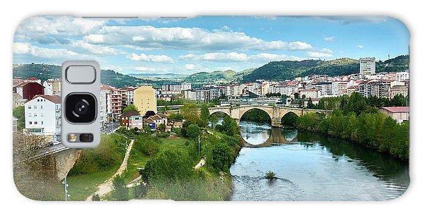 Ourense And The Roman Bridge From The Millennium Bridge Galaxy Case
