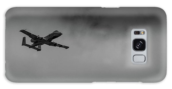 Galaxy Case featuring the photograph Out Of The Clouds - A-10c Thunderbolt by Doug Camara