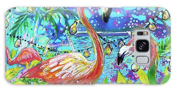 Outdoor Flamingo Party Galaxy Case