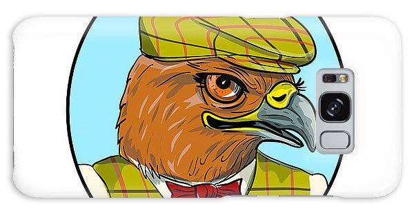 Sportsman Galaxy Case - Outdoorsman Hawk Head Drawing by Aloysius Patrimonio