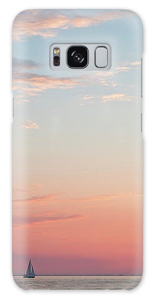 Outer Banks Sailboat Sunset Galaxy Case