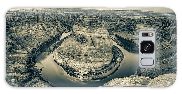 Over The Edge Of Horseshoe Bend - Sepia Edition Galaxy Case