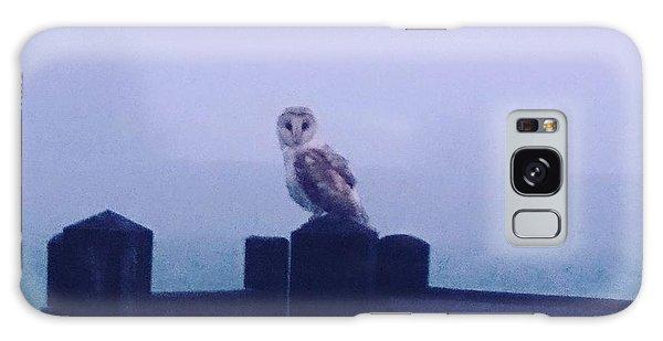 Owl In The Mist Galaxy Case