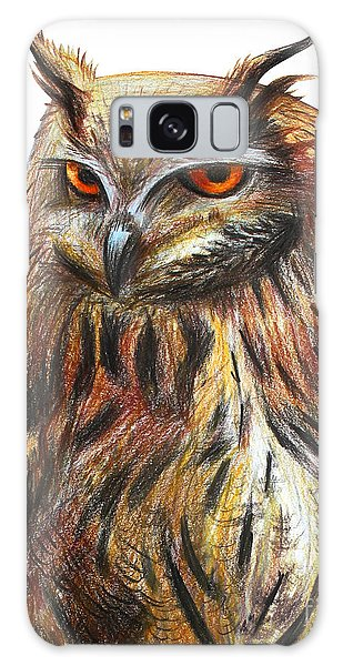 Realistic Galaxy Case - Owl Portrait Drawing by Viktoriya art