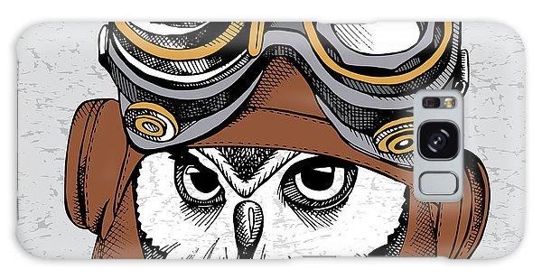 Metal Galaxy Case - Owl Portrait In A Steampunk Helmet by Afishka