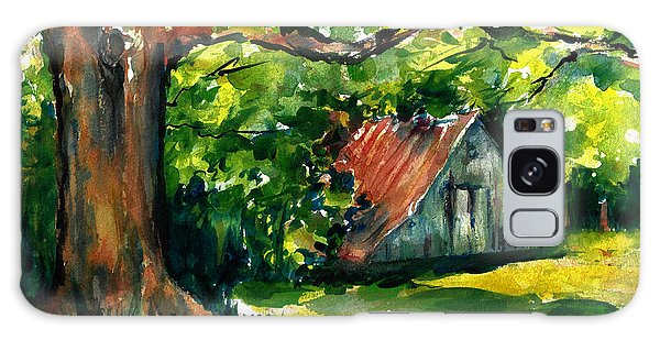 Ozarks Barn In Boxley Valley - Late Summer Galaxy Case