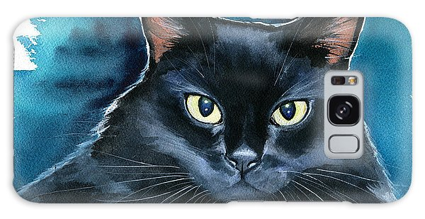 Ozzy Black Cat Painting Galaxy Case
