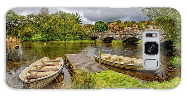 Galaxy Case - Padarn Lake Bridge Llanberis by Adrian Evans