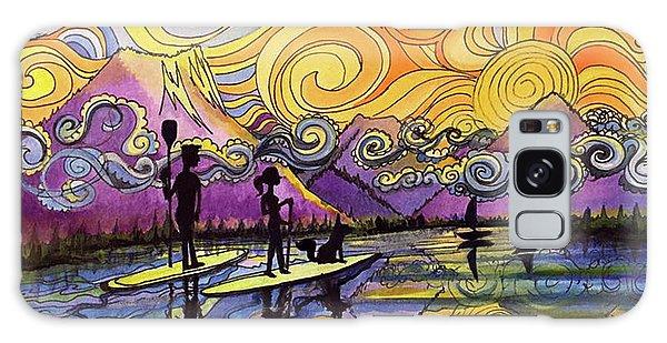 Paddleboarders Frisco Colorado Galaxy Case