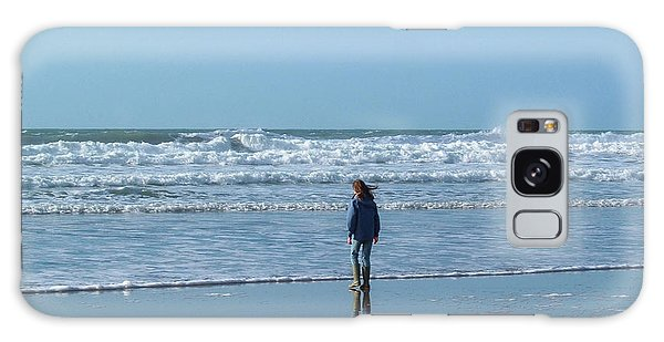 Paddling At Sandymouth Beach North Cornwall Galaxy Case