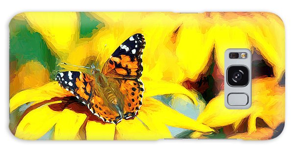 Painted Lady Butterfly Van Gogh Galaxy Case